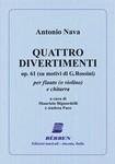 Antonio Nava - Quattro Divertimenti su Temi di G.Rossini